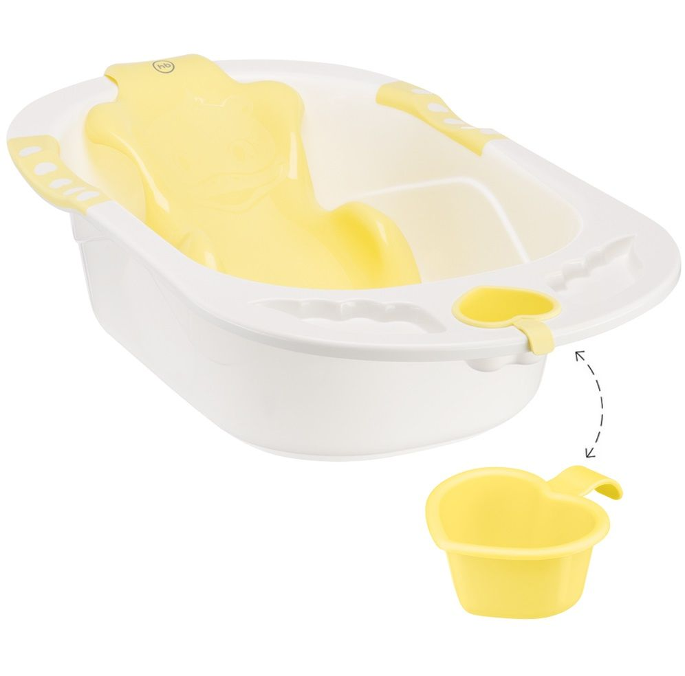 Ванна Happy baby с анатомической горкой Bath comfort Yellow в Алматы