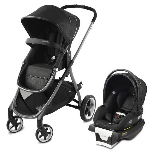 Коляска траснформер 2в1 Evenflo Travel System Shyft Black в Алматы